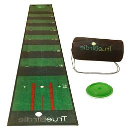 Indoor Putting Green and Golf Mat with Travel Bag + Putt Ali