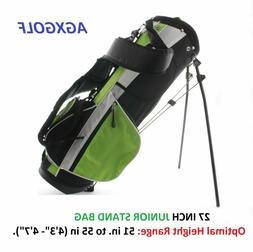 AGXGOLF JUNIOR SIZE GOLF STAND STAND BAGS wDUAL STRAP + RAIN