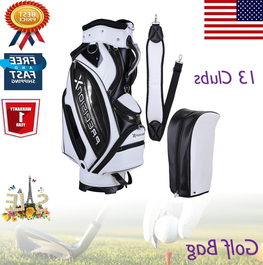 13 clubs golf cart stand carry bag