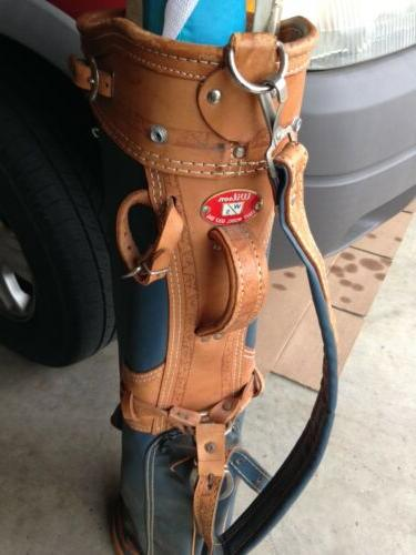 """1950s/1960s Wilson """"Staff model Golf Bags"""" Collectible LEATH"""