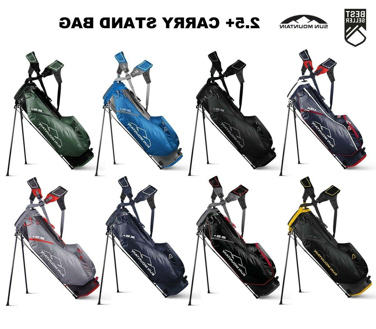 2 5 carry stand golf bag new