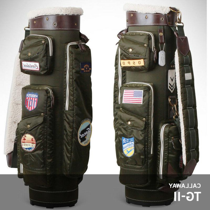 """Callaway 2017 TG-II Men's Caddie Bag Military Design 9"""" 5Way"""