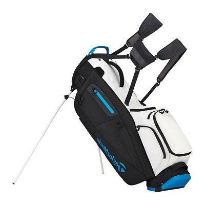 2018 flextech stand bag black white aqua