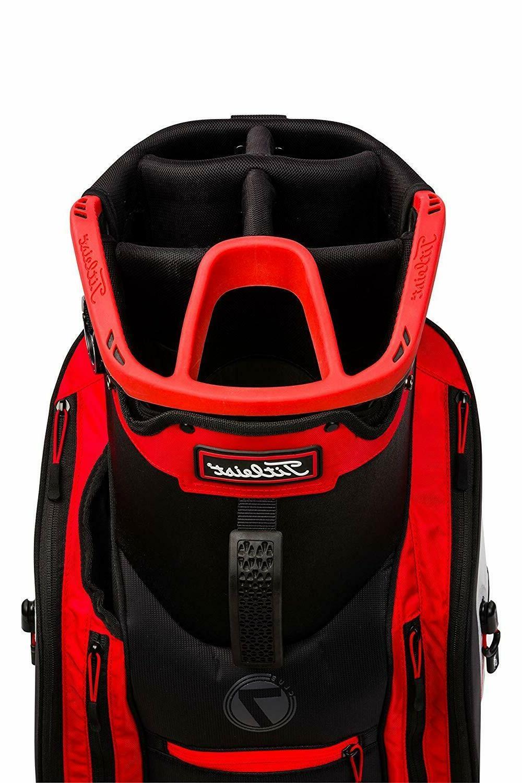 2018 Club Cart Bag COLOR: Black/White/Red