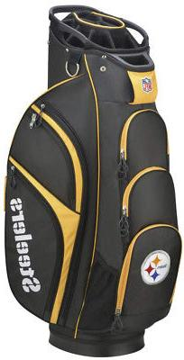 Wilson 2018 NFL Golf Cart Bag, Pittsburgh Steelers