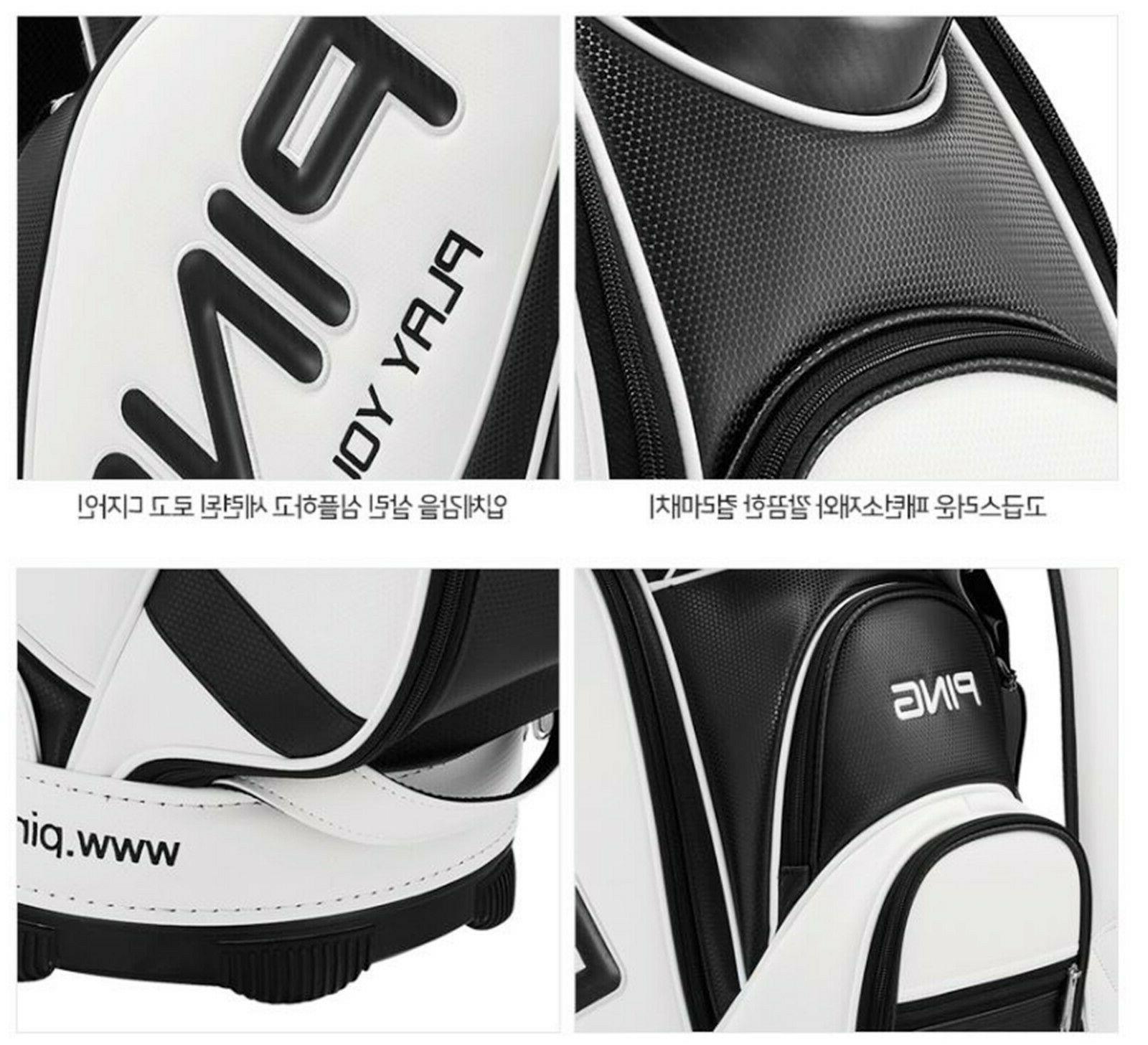 Ping Men's Caddie Bag-9In, 9.5lb PVC,Navy/EMS