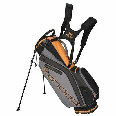 2019 ultralight stand golf bag black orange