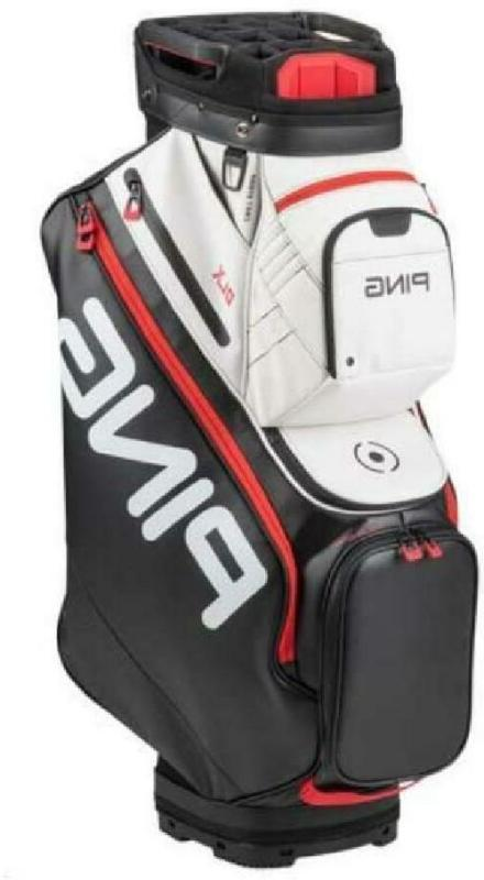 Ping 2020 DLX Golf 15 Way Cart Bag Black Red Fully-Loaded St