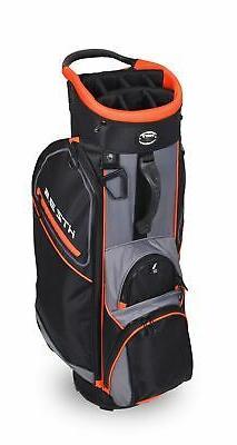 2020 Hot-Z 3.5 Golf Cart Bag ~ Orange/Black/Grey ~ 14 Way Fu