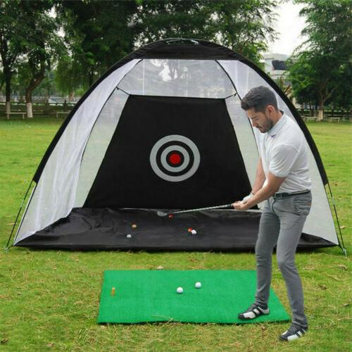 10FT Golf Practice Cage Driving Net Training Aid Mat Driver