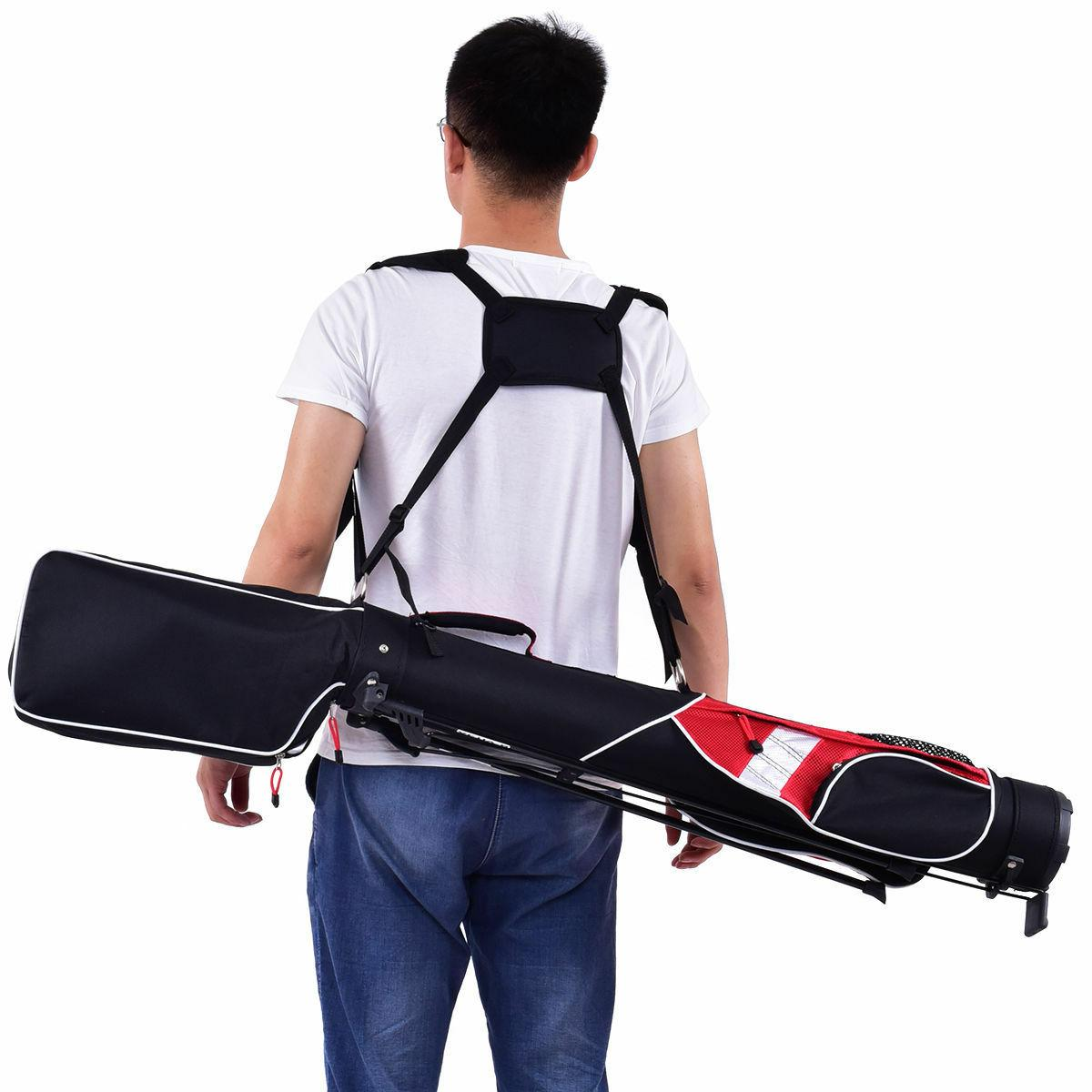 5'' Sunday Golf Stand 7 Clubs Carry Pockets Walk