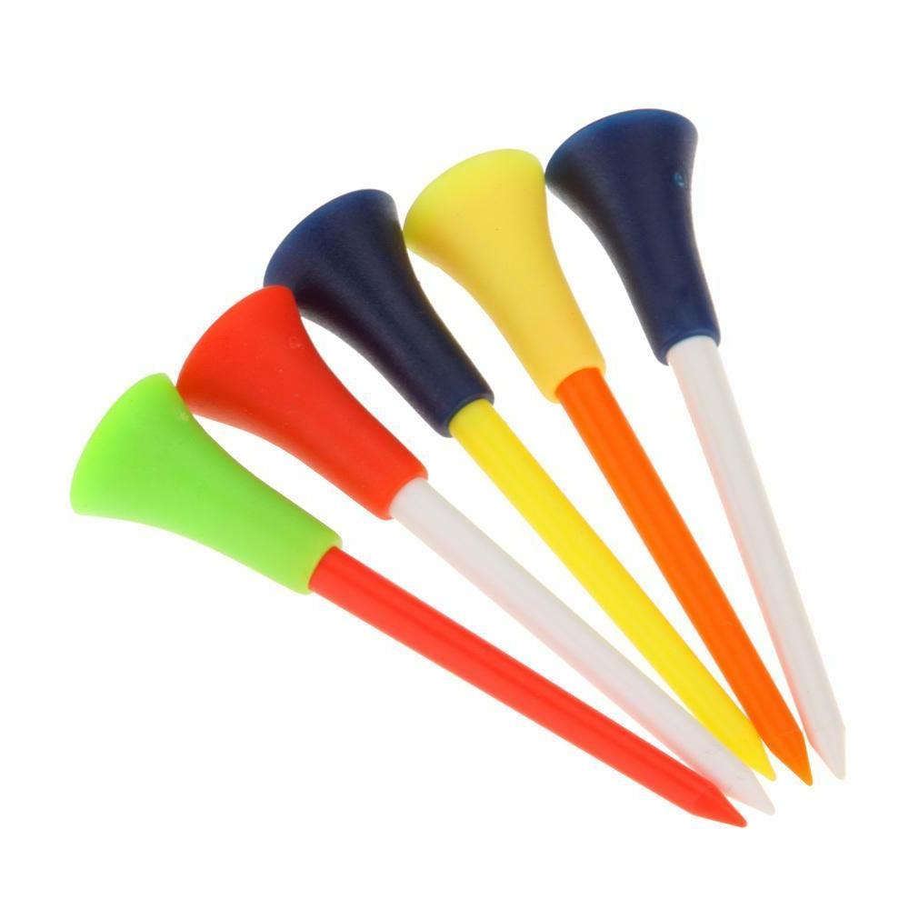 50 Pcs/bag Multi Color Plastic Golf Tees 83mm Durable Rubber