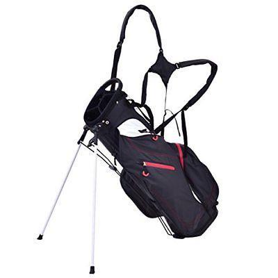 """Tangkula 8.5"""" Golf Bag 5 Way Divider Carry Bag Golf Stand Ca"""
