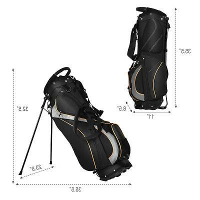 "9"" Stand Bag Club Carry Organizer Black New"