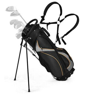 9 golf stand bag club 7 way