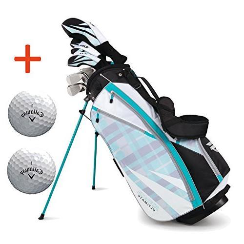 Bundle:Callaway Women's Strata Ultimate Complete Golf Set wi