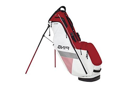 PING Lite Carry Stand Golf White/Red/Black