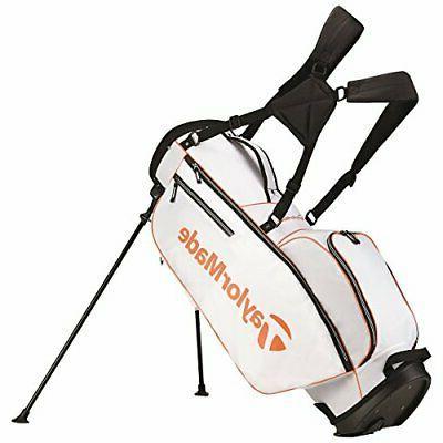 TaylorMade 2017 TM 5.0 Stand Golf Bag, White/Orange
