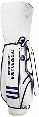 Golf bag women's 3 stripe caddy bag AWU47 M72112 White