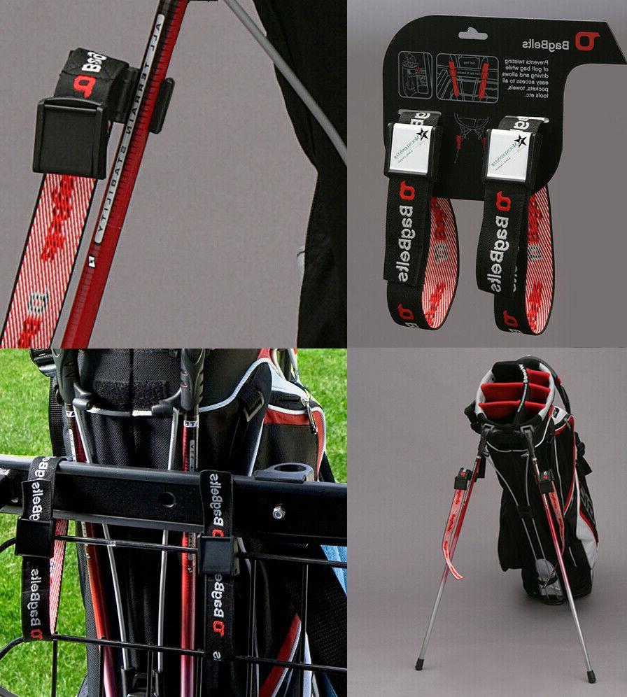 bagbelts golf bag holds bag to cart