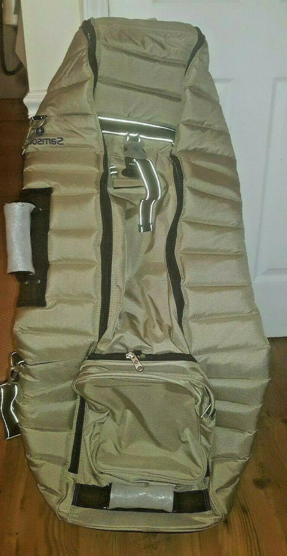 ballistic deluxe wheeling golf travel bag 683