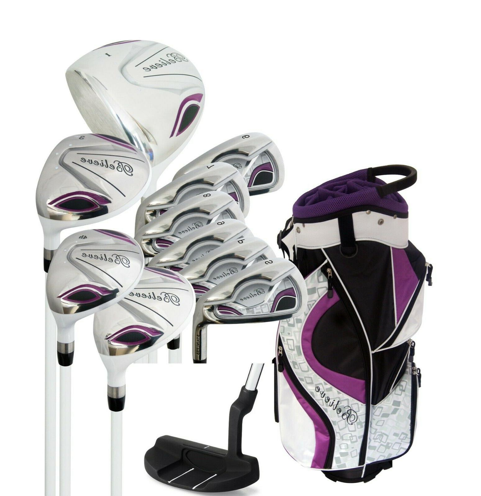 believe ladies womens complete golf club set