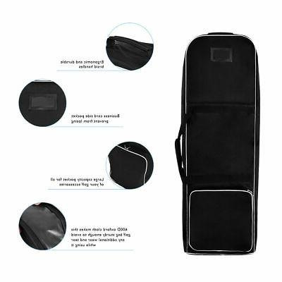 Black Foldable Golf Travel Cover Lightweight
