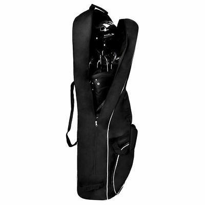 black foldable golf bag travel cover