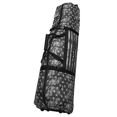 OGIO Black Golf Clubs Lightweight Travel Bag w/ Handle & Wheels
