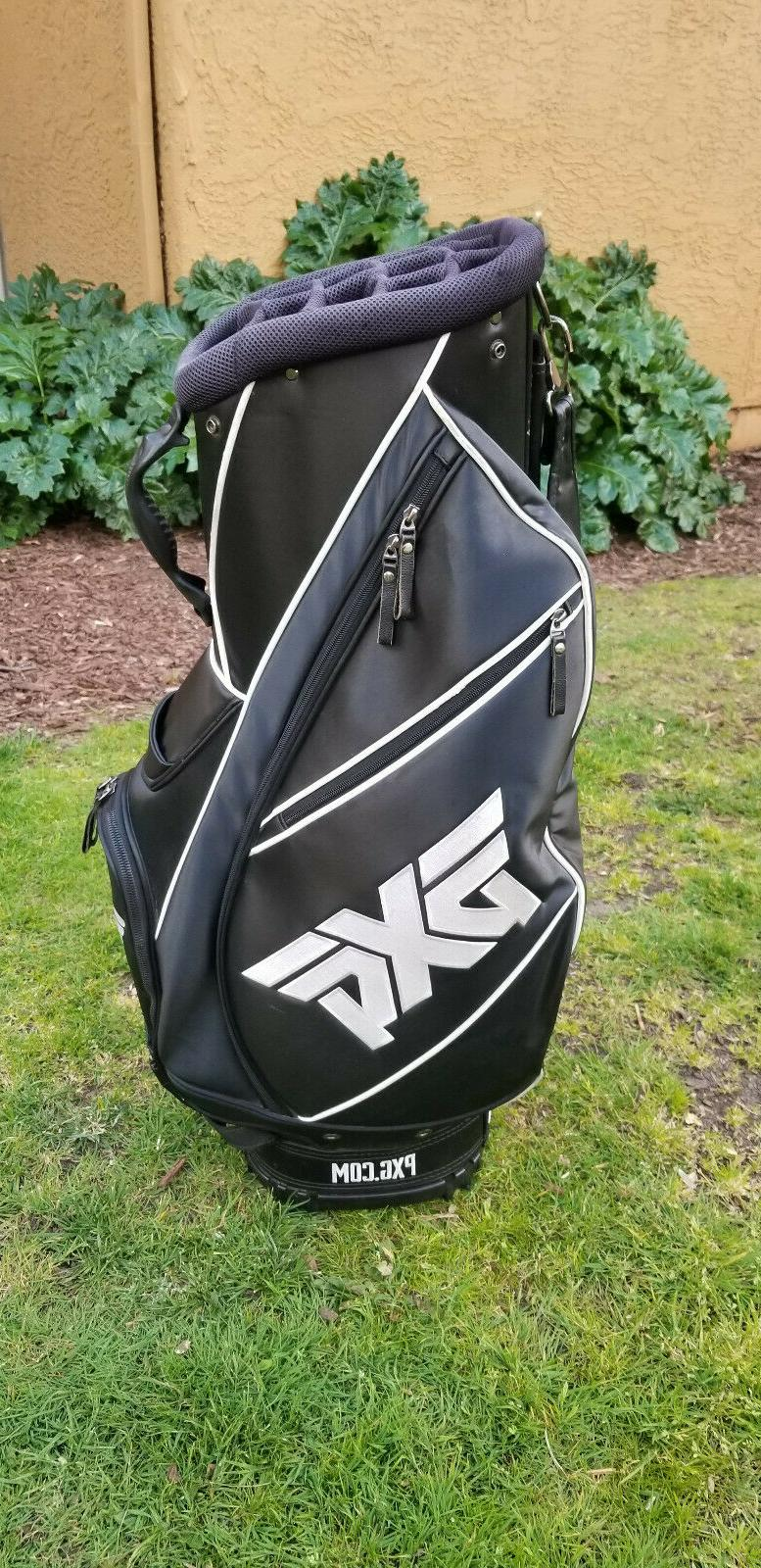 black staff golf bag with 14 way