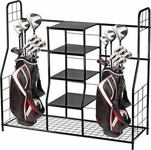 Golf Organizer Storage Bag Rack Equipment Garage Accessories