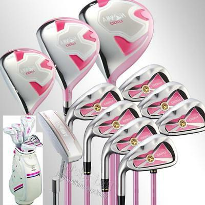 Cooyute New Women Honma U100 Golf clubs Compelete set wood+i
