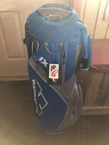 Sun Bag cart 15 way Cobalt-Gray