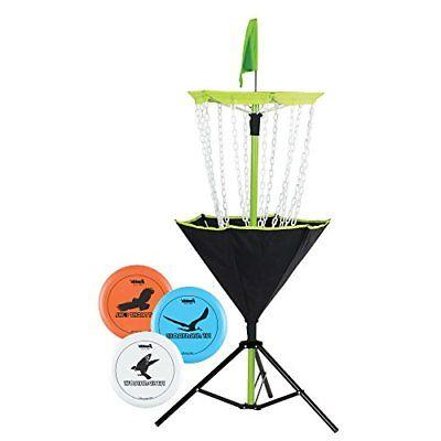 disc golf target set includes three golf