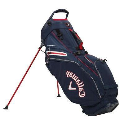 fairway 14 stand golf bag navy white
