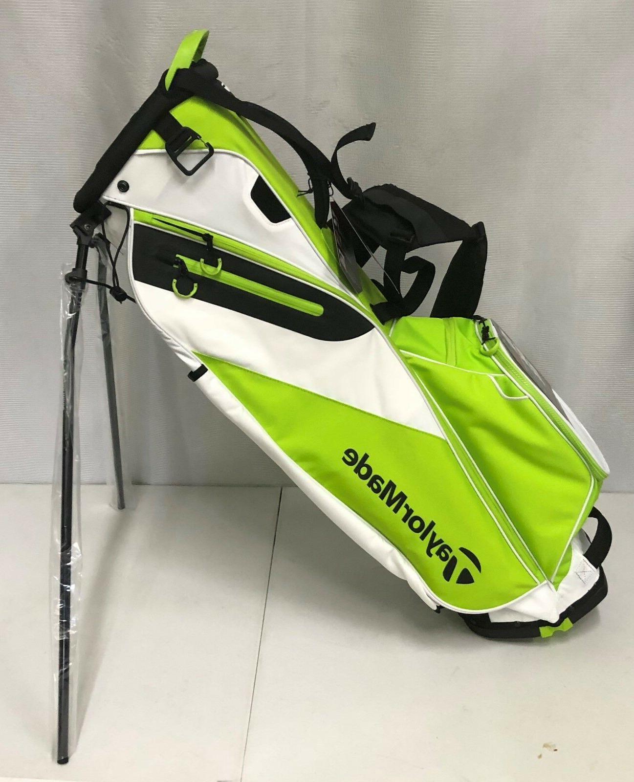 flextech lite stand bag green white new