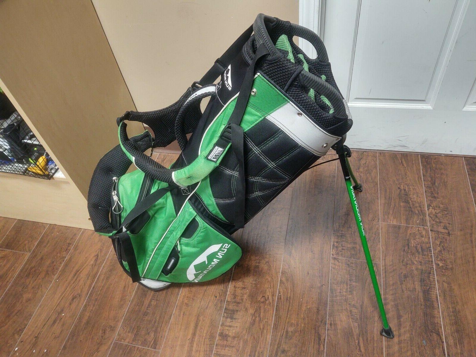 Sun Mountain Four 5 14 Dual Strap Stand Bag Green/Black/White