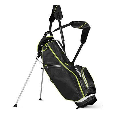 front 9 no logo stand bag white