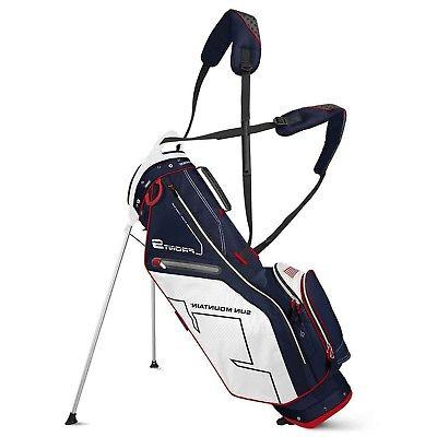 front 9 stand golf bag navy white