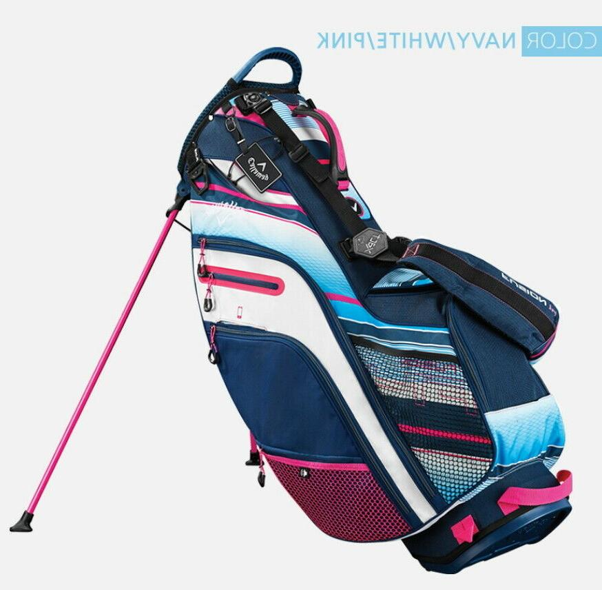 Callaway 14 Stand 14Way PVC Free EMS Navy/Whtie/Pink