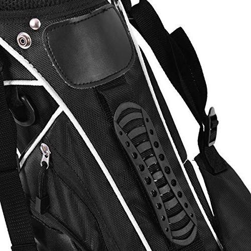 Organized Golf Bag Easy Carry 3 Way Storage, Black