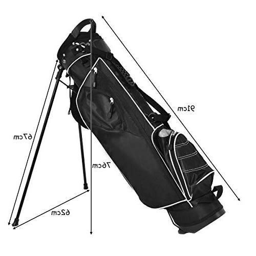 Organized Golf Bag Carry 3 Way 4 Storage, Black