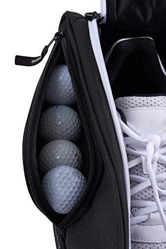 Athletico Golf Shoe Bag - Zippered Shoe Bags with Outside Pocket for Tees, Perfect Storage