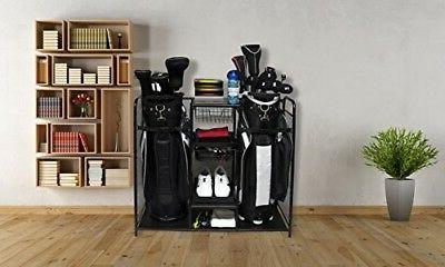 Golf Bag Stand Holder Organizer Storage Sports Outdoors Gara