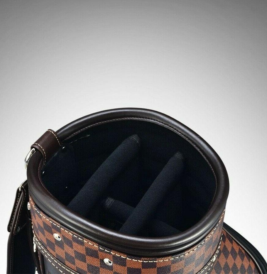Golf bag standard bag plaid PU ball bag British style