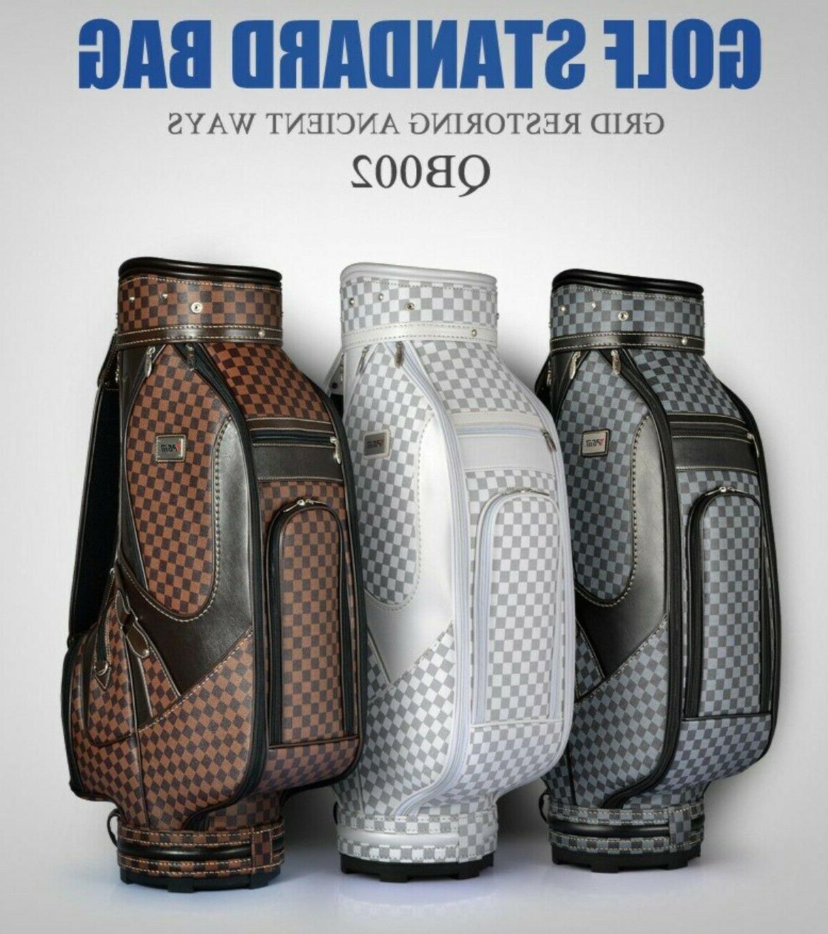 Golf bag plaid ball British golf equipment