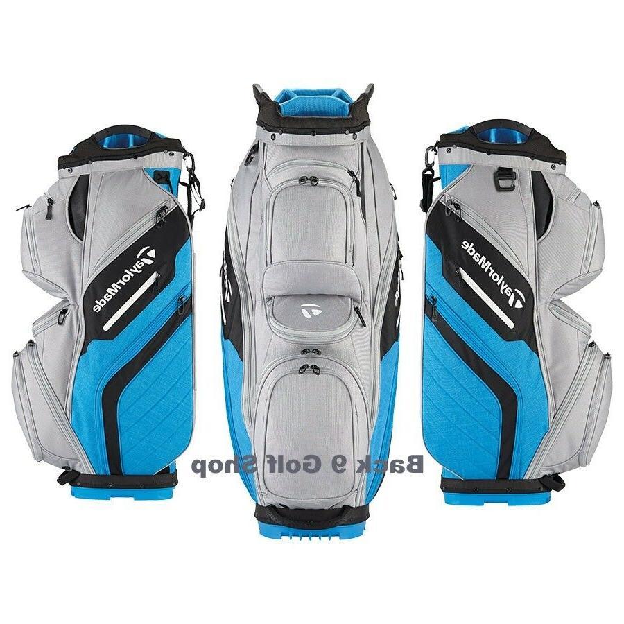 TaylorMade Golf Bag Supreme Cart Gray/Blue - New 2018