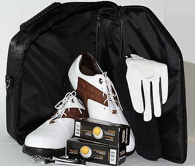 Golf Carry-All Accessory Shoes Balls Gloves Tees Black