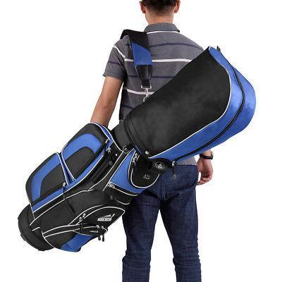 Golf Cart Bag Way Divider Top 12 Pockets for Storage Blue