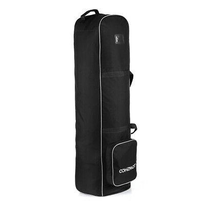 Golf Club Bag Cover Carry Case with Rolling Wheels
